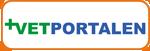 """logo som länkar till Scandivets samarbetspartner """"Vetportalen""""."""