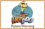 hot dog veterinary patient warmin - logga, samarbetspartners